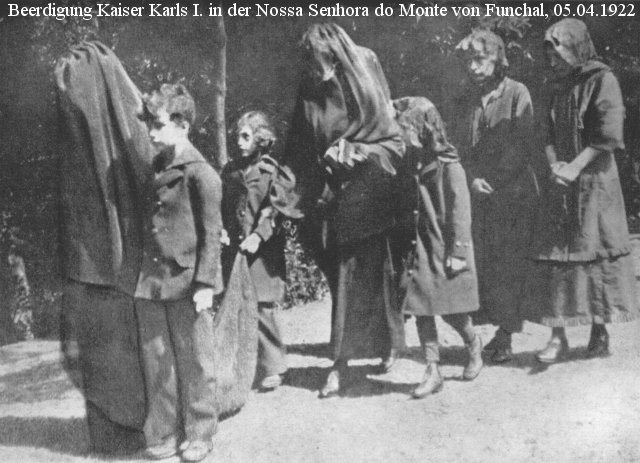 The funeral of Blessed Charles in Monte, Madeira